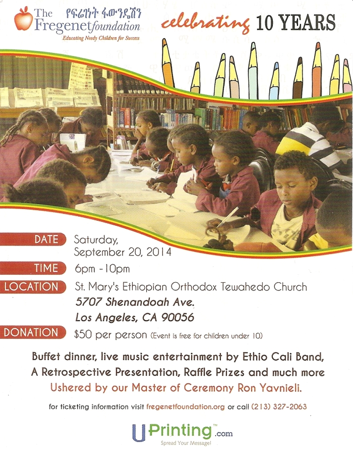 The Fregenet Foundation Flyer