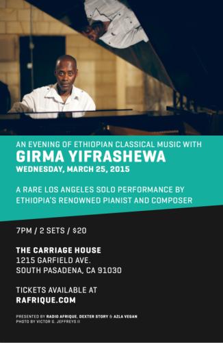 Girma Yifrashewa Flyer