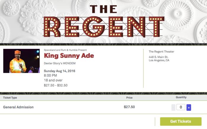 King Sunny Adé The Regent